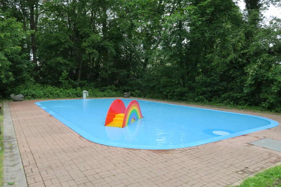 Das Planschbecken im Schreberbad erhielt in den vergangenen Monaten eine neue Pumpe sowie eine Wasserrutsche.