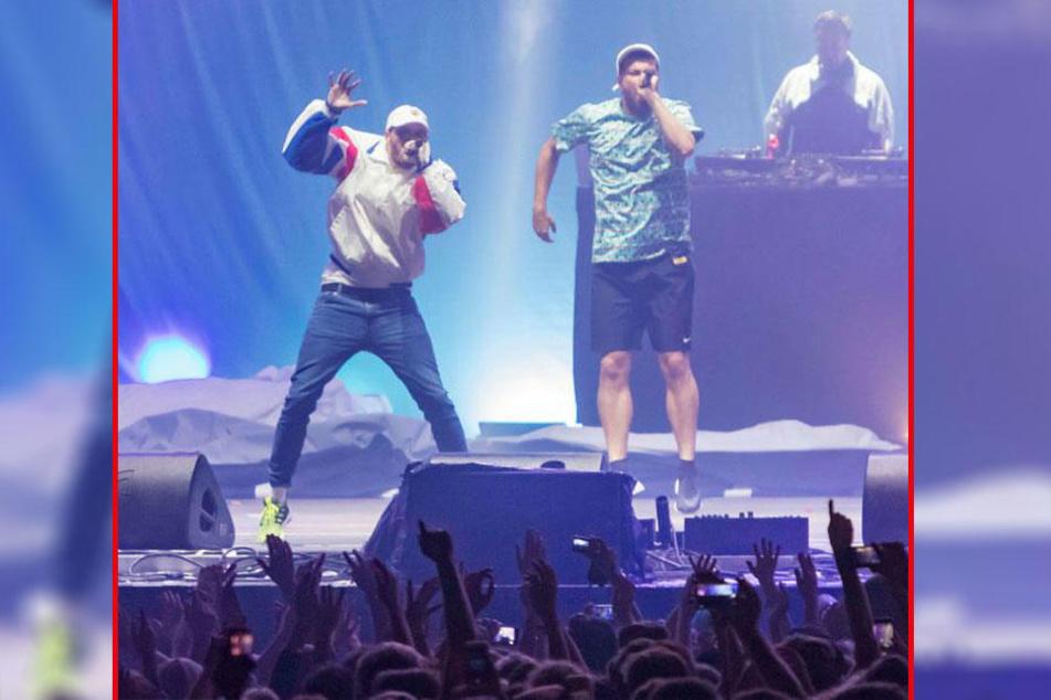 Hauptact, neues Album, Weckdienst am Morgen: Casper (35, l.) und Marteria (35) sorgten auf Festival für gleich mehrere Überraschungen.