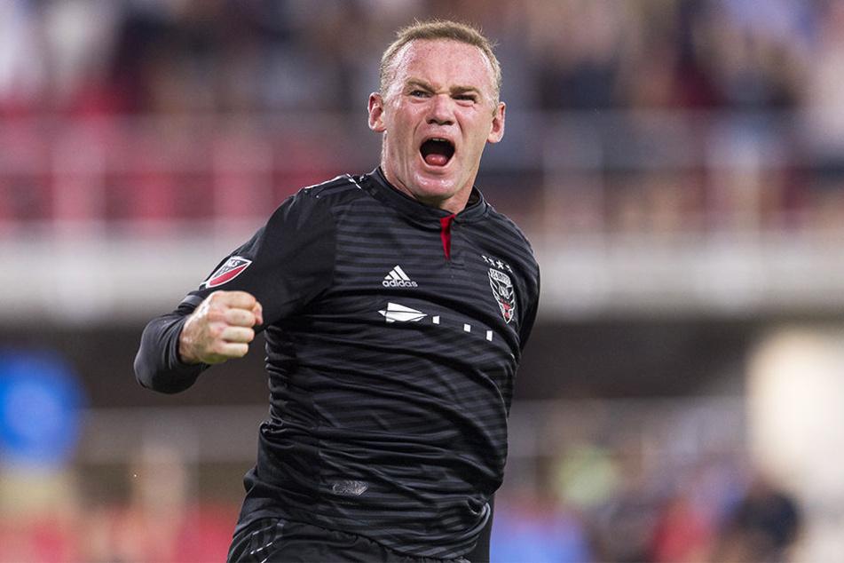 Jubelt mittlerweile in den USA für D.C. United: Ex-Manchester-United-Torjäger Wayne Rooney.