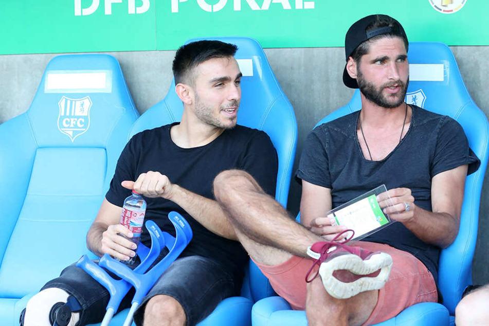 Ioannis Karsanidis (l.) fällt noch längere Zeit aus, Kapitän Niklas Hoheneder (r.) hofft auf eine schnelle Rückkehr.