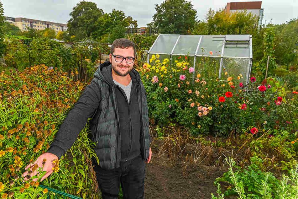 Erik Schütze (28) ist Herr über einen 400 Quadratmeter Garten. Der ist sein zweites Zuhause.