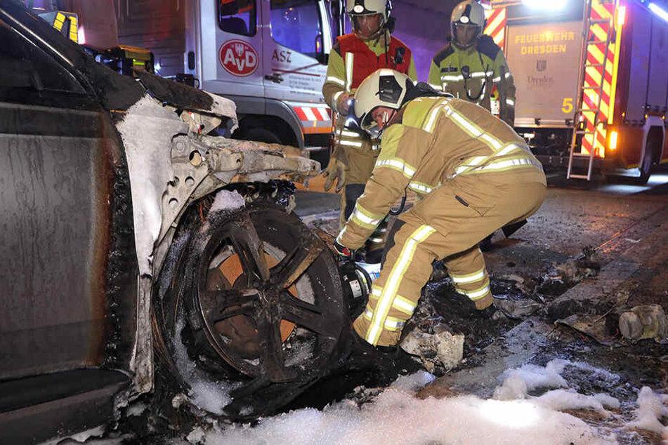 Im Juni geriet ein Audi Q7 im Tunnel in Brand.