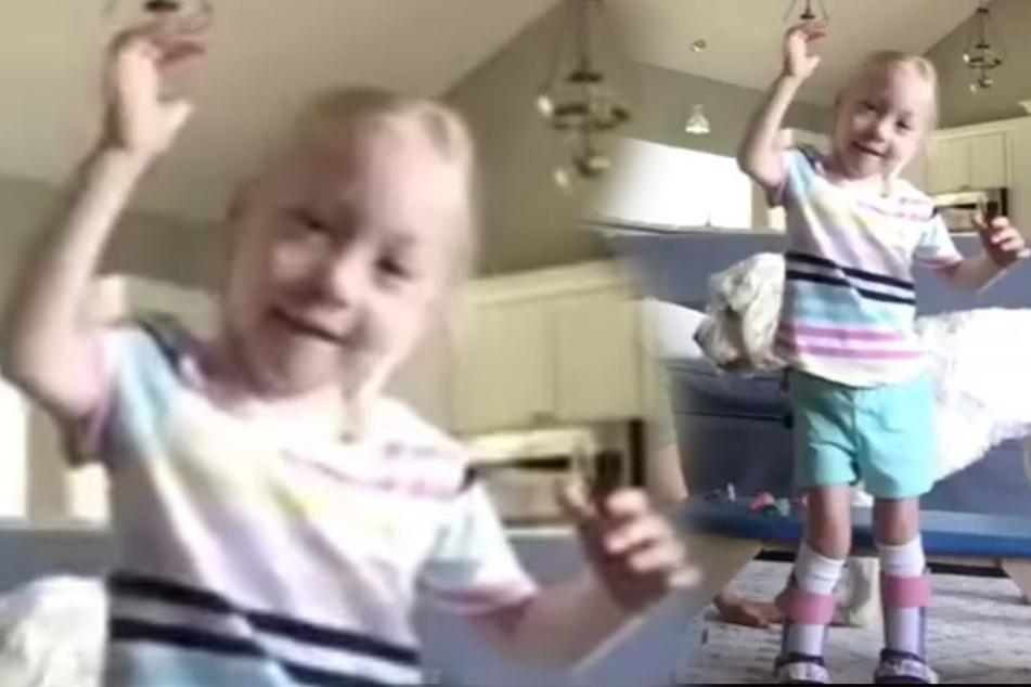 Sie ist gelähmt: Darum begeistert diese Vierjährige das Netz
