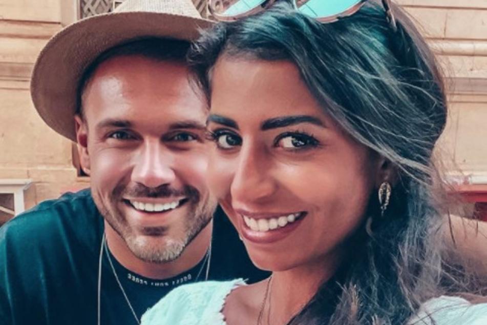 Ein Foto aus glücklicheren Tagen: Mit seiner Ex-Verlobten erwartet Chris ein gemeinsames Kind. Die 29-Jährige ist im 8. Monat schwanger.