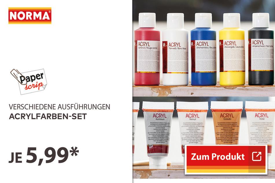 Acrylfarben-Set für 5,99 Euro.