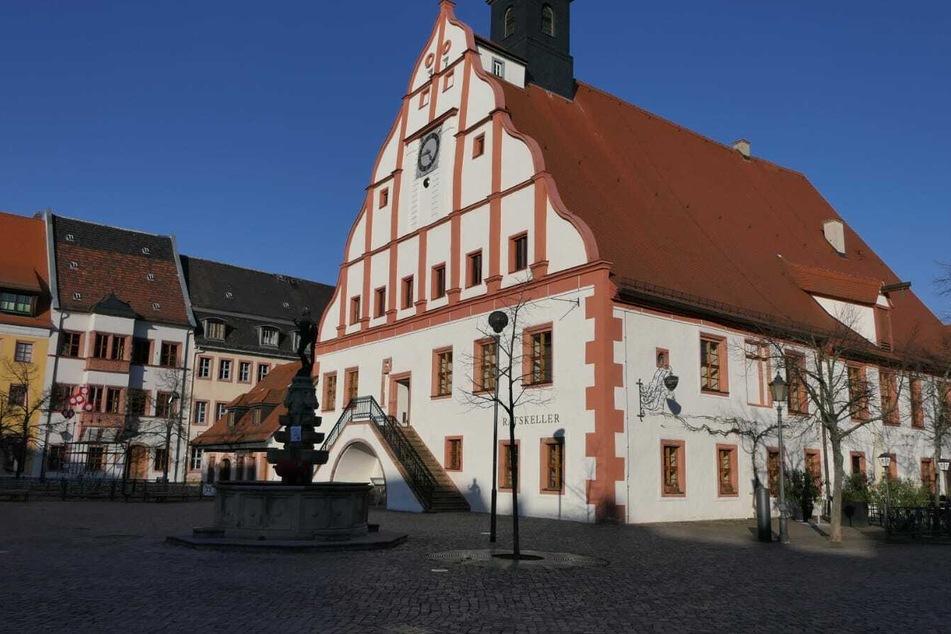 Gähnende Leere auf dem Marktplatz in Grimma.