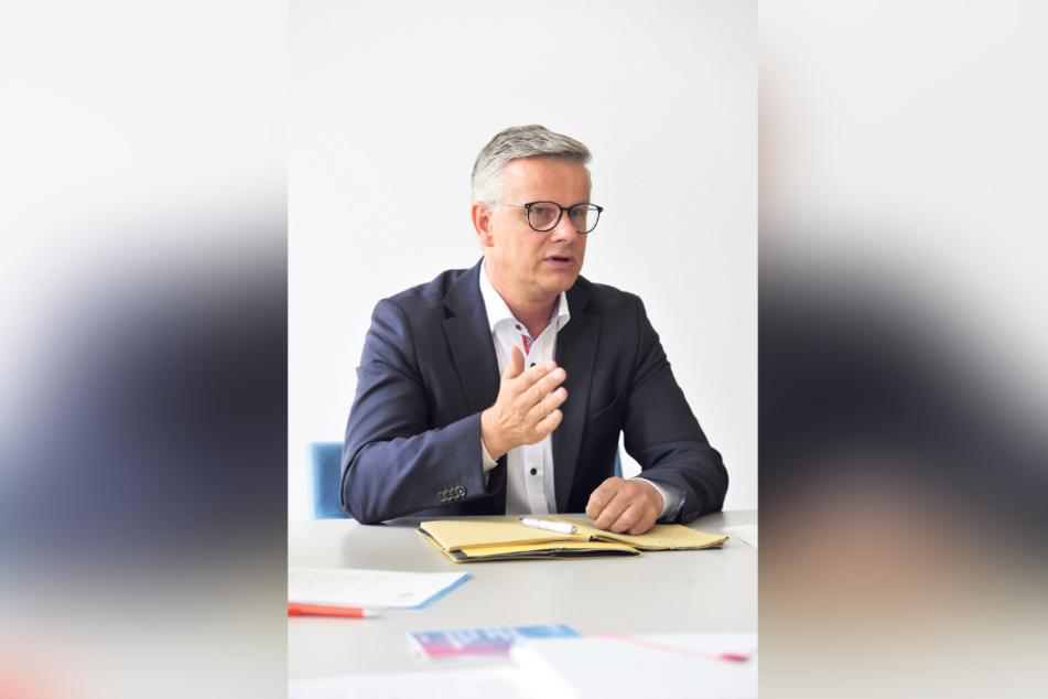 Verteidigt die Test-Regeln in Chemnitz: Stadtsprecher Matthias Nowak (51).