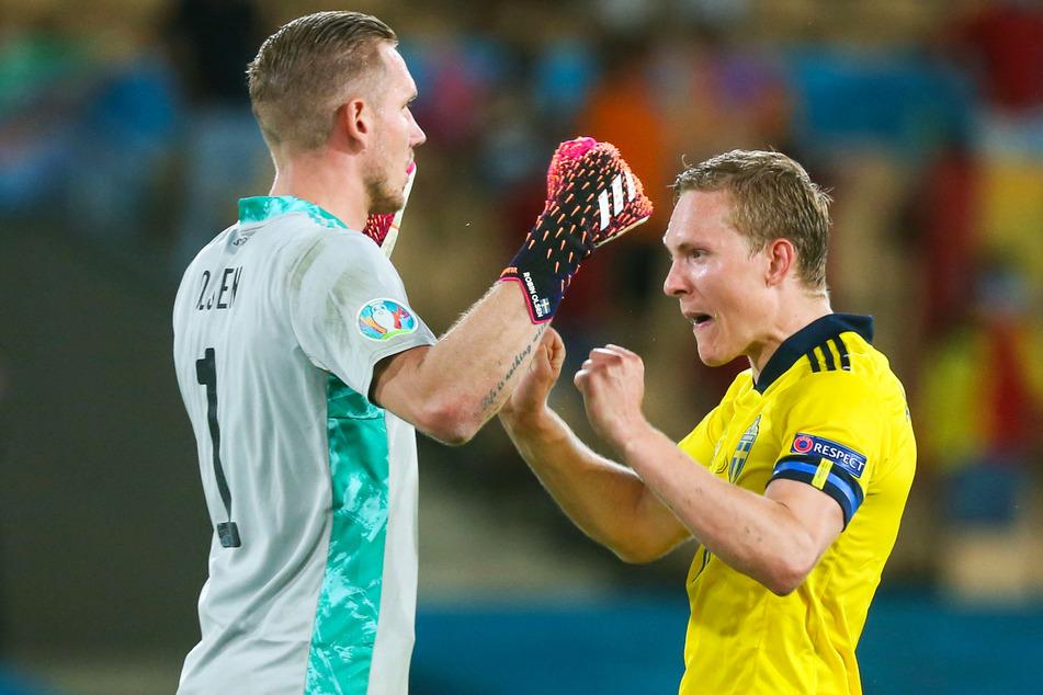 Ludwig Augustinsson (27, r.) war bei der Europameisterschaft 2020 Stammspieler bei Schweden.