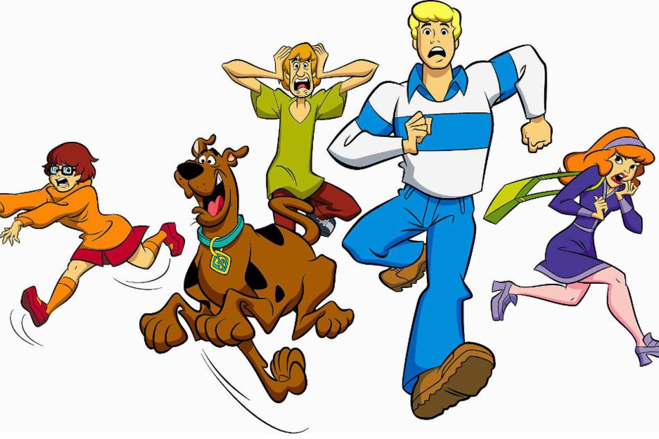 """Velma, Scooby Doo, Shaggy, Fred & Daphne (v.l.n.r.) sind die Protagonisten der Zeichentrickserie """"Scooby Doo""""."""
