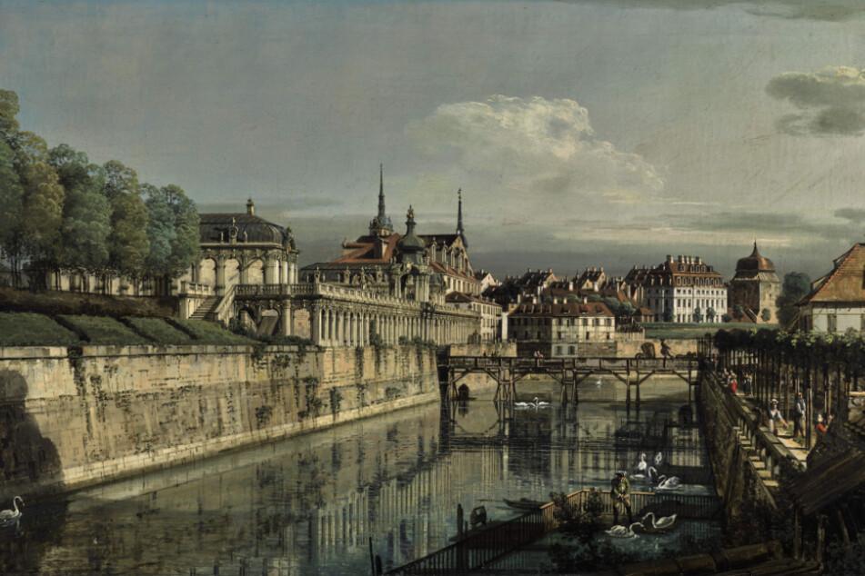 Diese Ansicht des Zwingergrabens (1758) von Canaletto kommt in London unter den Hammer.
