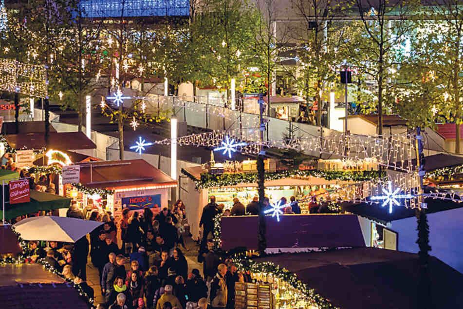Der Weihnachtsmarkt auf der Prager Straße hofft auf eine Finanzspritze.