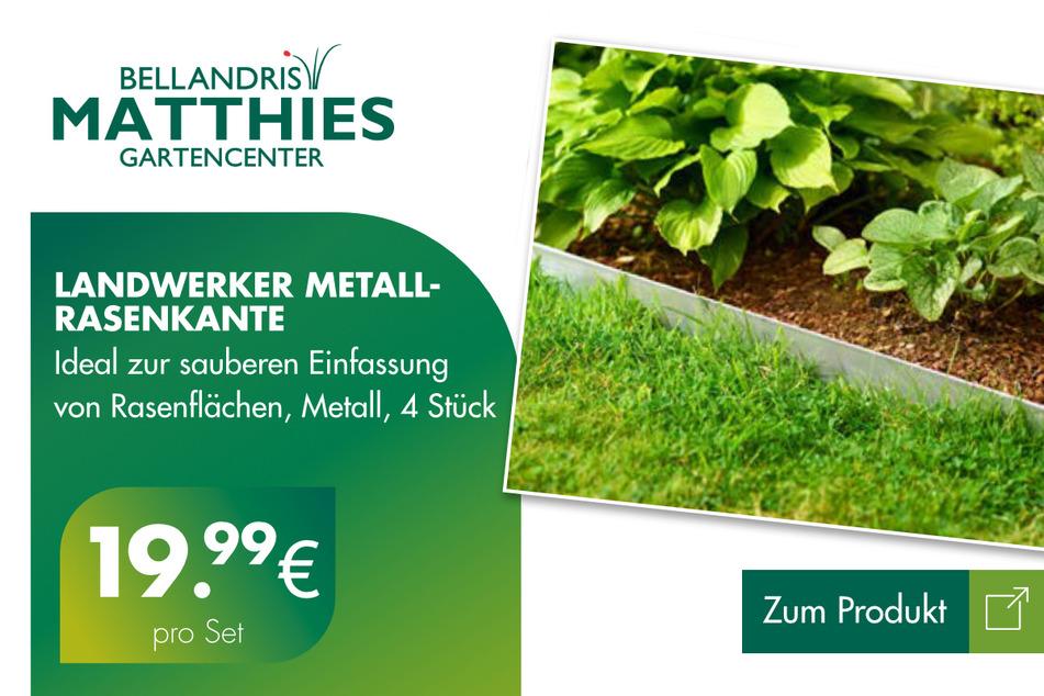 Metall-Rasenkante für 19,99 Euro