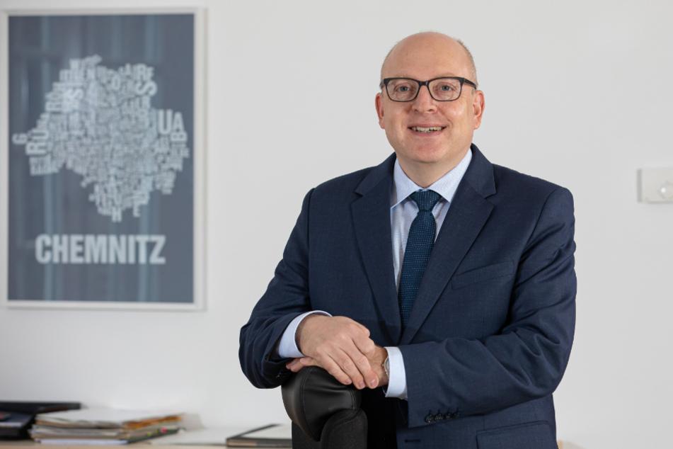 Ist ähnlich frisch auf seinem Posten wie andere Partnerstadtoberhäupter: der Chemnitzer Oberbürgermeister Sven Schulze (49, SPD).