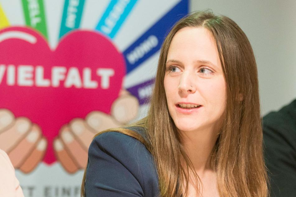 Die Parlamentarische Geschäftsführerin der Linken im Landtag, Sarah Buddeberg (38).
