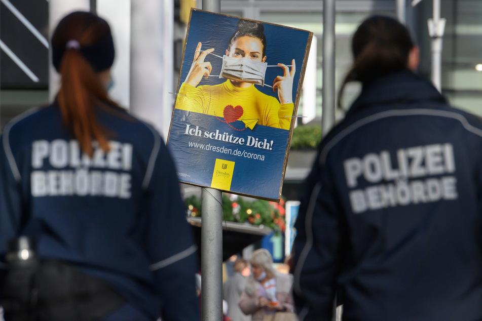 An die Masken-Pflicht hielt sich in Sachsen bei Weitem nicht jeder. Unter anderem deshalb mussten Ordnungshüter in den letzten Monaten Zigtausende Strafen verteilen.