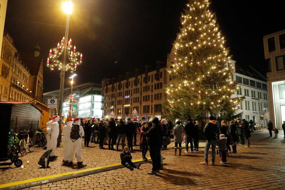Am Sonntag trafen sich Gegner der Corona-Maßnahmen in Chemnitz.