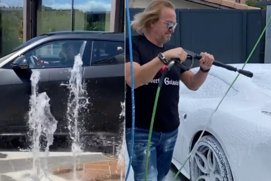 Doppelt kurios: So wäscht Robert Geiss seine Luxus-Autos
