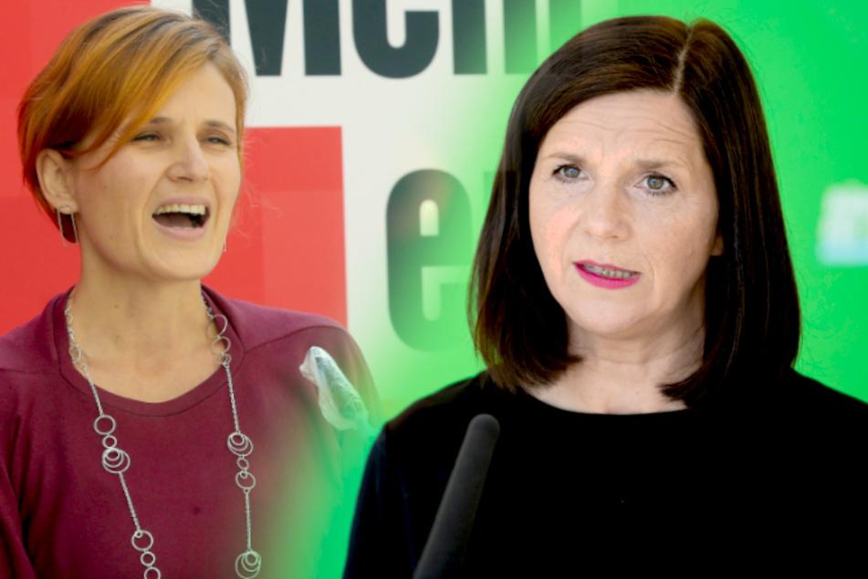 Linken-Vorsitzende Katja Kipping (l.) und Grünen-Fraktionschefin Katrin Göring-Eckardt wurden aus dem rechtsextremistischen Spektrum bedroht.