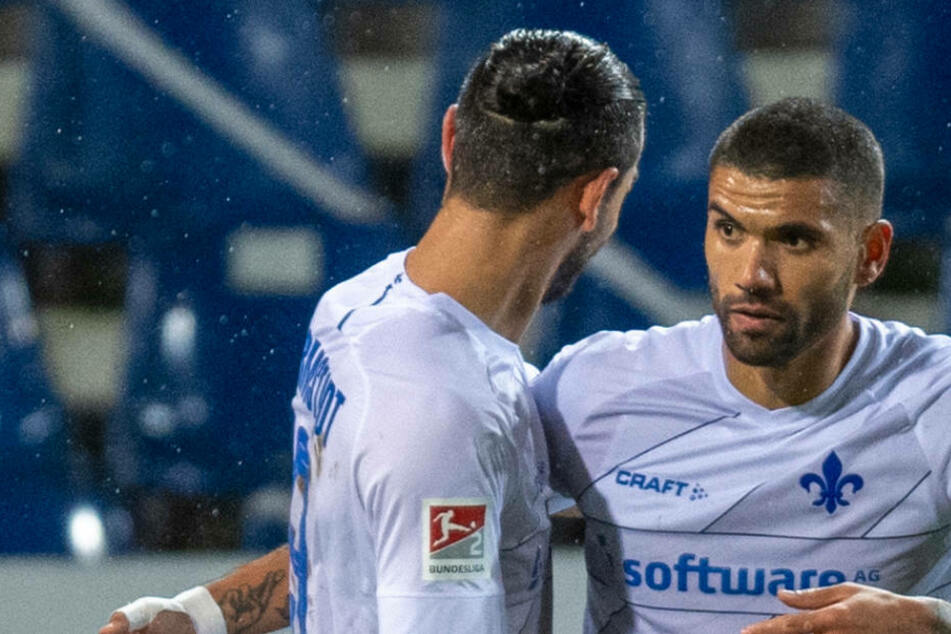 Sowohl Torjäger Serdar Dursun (l.) als auch Mittelfeldspieler Victor Pálsson werden zum Saisonende den SV Darmstadt 98 verlassen.