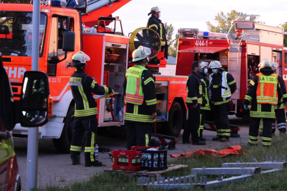 Feuer in Flüchtlingsunterkunft in Lampertheim: Ein Mensch verletzt