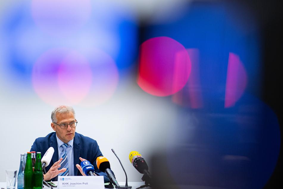 Joachim Poll, Leiter der Ermittlungen, spricht bei der Pressekonferenz von Polizei und Staatsanwaltschaft Münster zu Ermittlungen nach dem schwerem sexuellem Missbrauch von Kindern.