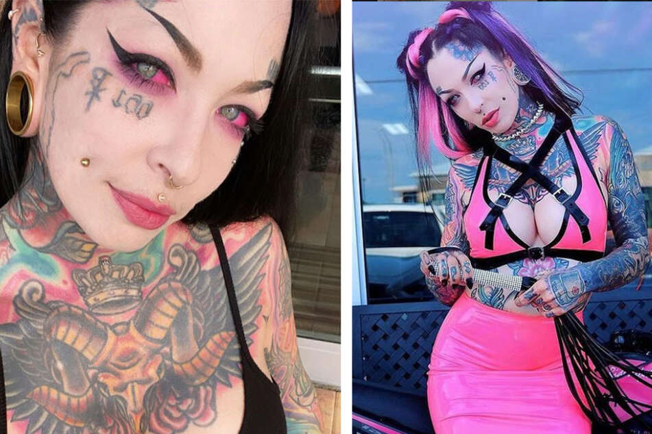 Mother-of-three defies dirty looks with her love of Jesus and tattoos