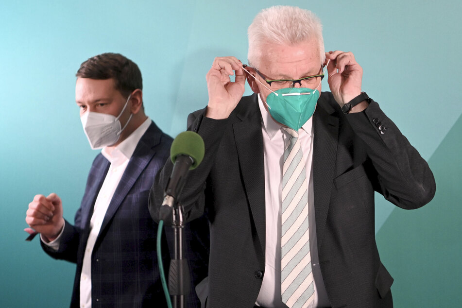 Grünen-Landeschef Oliver Hildenbrand (33, l.) und Baden-Württembergs Ministerpräsident Winfried Kretschmann (72, Grüne).
