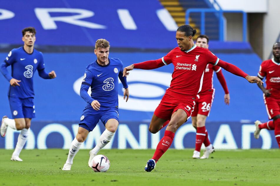 Kai Havertz (l.) und Timo Werner (2.v.l.) standen beide in der Anfangself des FC Chelsea.