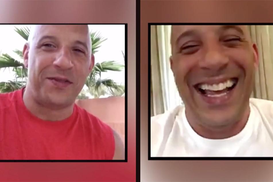 Diese Screenshots machte Katja L. von ihren Videoanrufen mit dem angeblichen Vin Diesel: Die App kreierte ein täuschend echtes Abbild des Schauspielers.