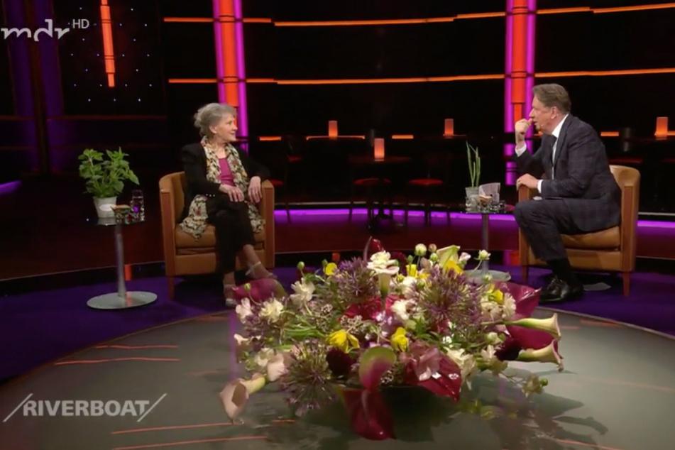 Im Gespräch mit Moderator Jörg Kachelmann (62): Schauspielerin Antje Hagen (82) war am Freitagabend zu Gast im MDR-Riverboat.