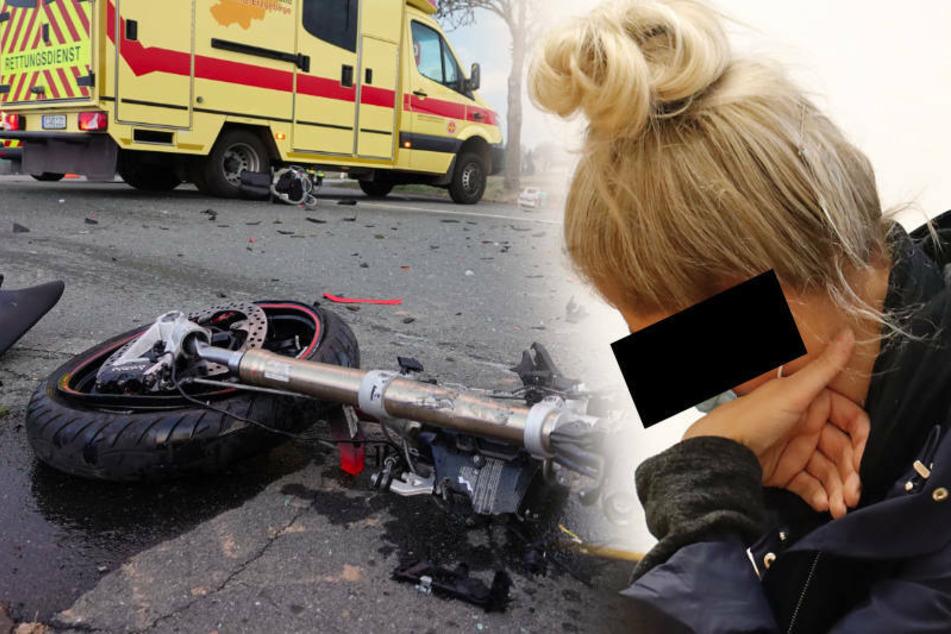Biker starb, weil sie ein Stoppschild übersah! Todes-Fahrerin bekommt milde Strafe