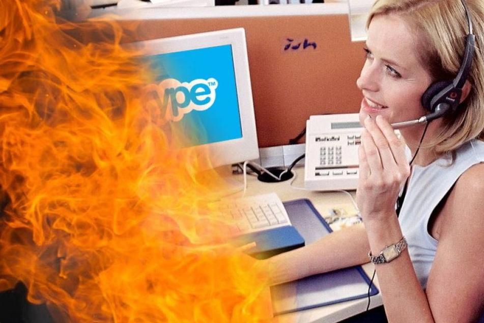 Skype-Partner bewahrt Frau vor Feuer-Tod