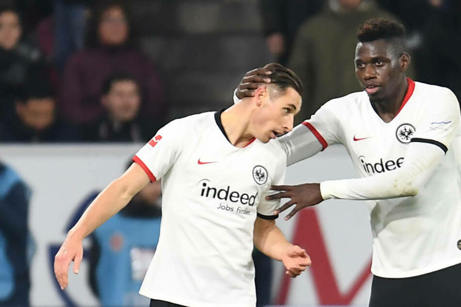Dominik Kohr (l.) und Danny da Costa am 2.12.19 in der Partie FSV Mainz 05 gegen Eintracht Frankfurt (2:1): Damals beide noch mit dem Adler auf der Brust.