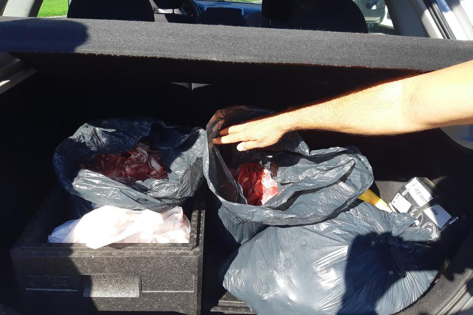 Mit diesem unappetitlichen Fund haben die Polizisten sicher nicht gerechnet, als sie den Kofferraum eines Wagens in Aachen kontrollierten.