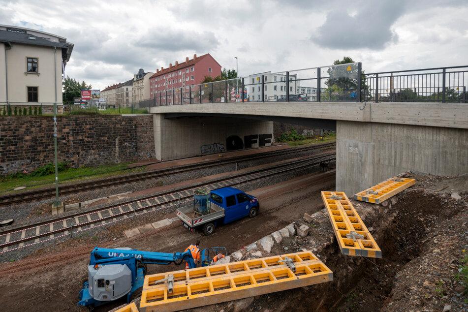 Die Brücke Zschopauer Straße wurde nahezu komplett erneuert.