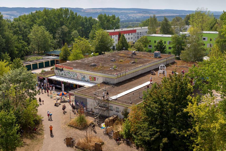 Viel Grün ist um die ehemalige Kaufhalle an der Walter-Ranft-Straße, die abgerissen werden soll, entstanden.