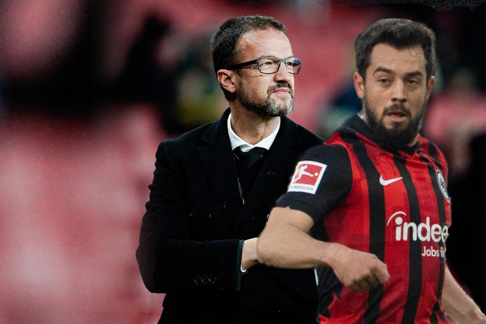 """""""Ein unglaublich toller Typ"""", sagt Eintracht Frankfurts Amin Younes (27, r.) über Sportvorstand Fred Bobic (49)."""