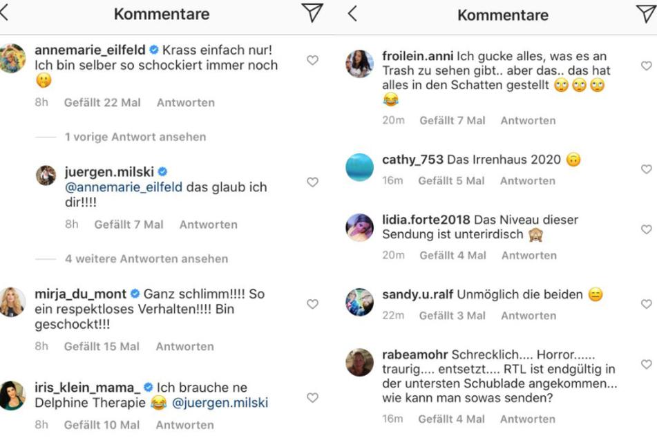 """Die Instagram-Community war nach der Ausstrahlung der ersten """"Sommerhaus der Stars""""-Folge fassungslos."""