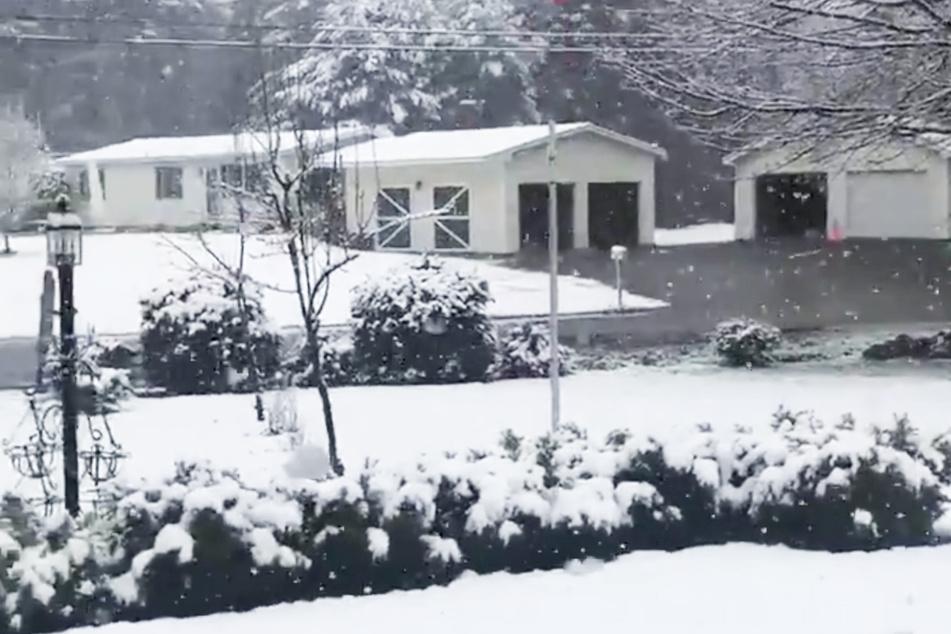 Krasser Wetterumschwung: Hier liegt jetzt zentimeterhoher Schnee!