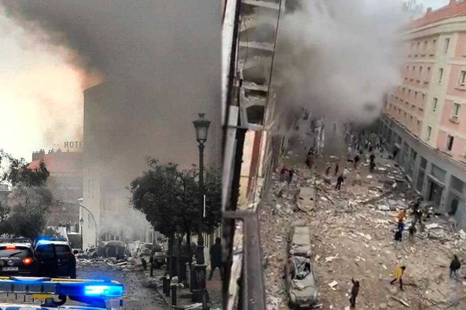 Explosion in Madrid: Menschen rennen durch Trümmer, Mindestens zwei Tote!