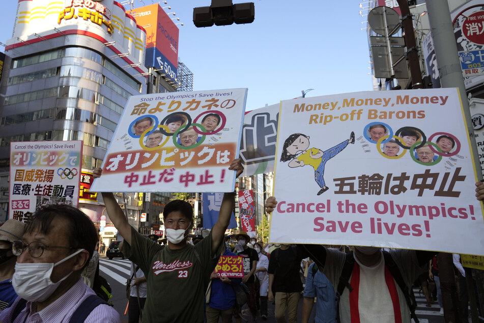 Die Proteste in Tokio gegen die Olympischen Sommerspiele gehen weiter.