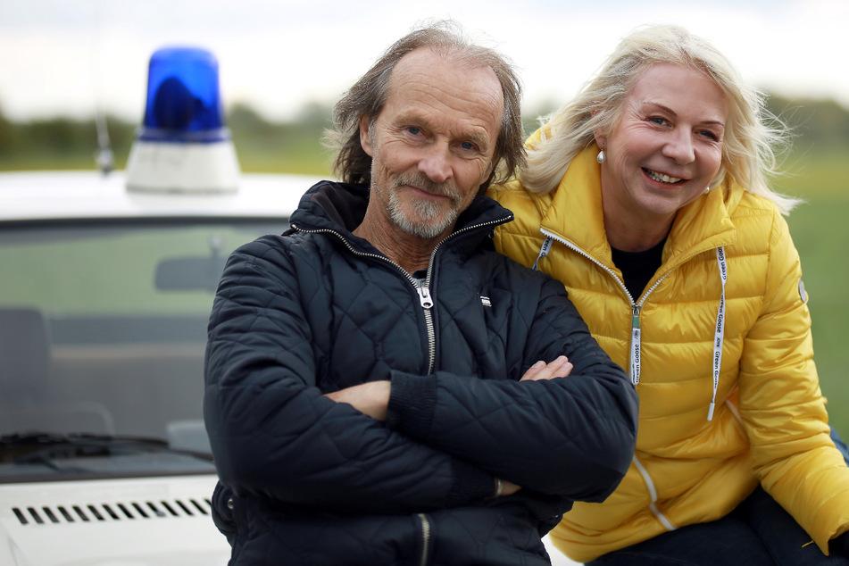 Papa Eberhofer (Eisi Gulp, 65) und seine Erfinderin, Autorin Rita Falk (57).