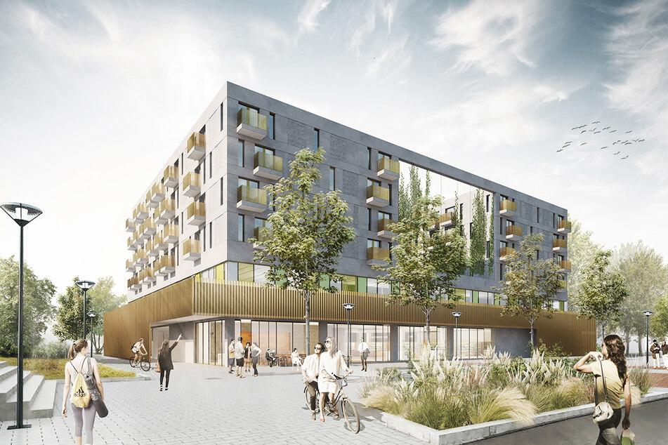 So soll der Neubau im Sommer 2023 aussehen.