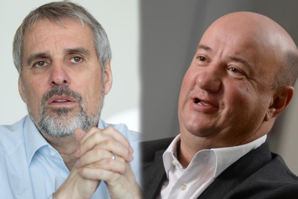 Daimler-Personalvorstand Wilfried Porth (links im Bild) und Gesamtbetriebsratschef Michael Brecht.