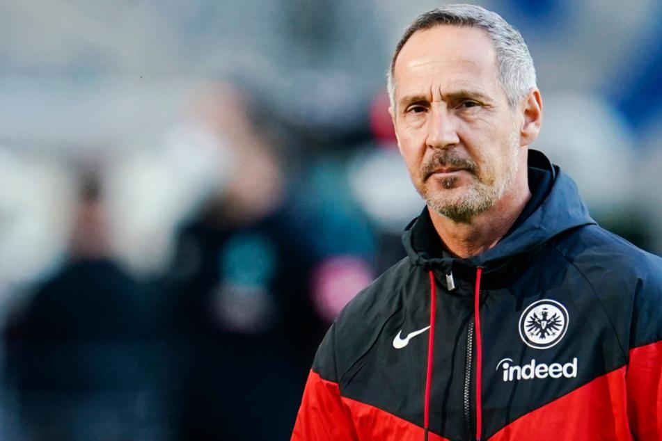 Das Foto vom 31. Oktober zeigt Adi Hütter (50), den Trainer von Eintracht Frankfurt.