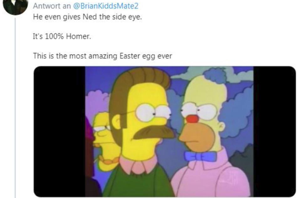 """""""Das ist 100 Prozent Homer"""", freut sich der Twitter-User."""