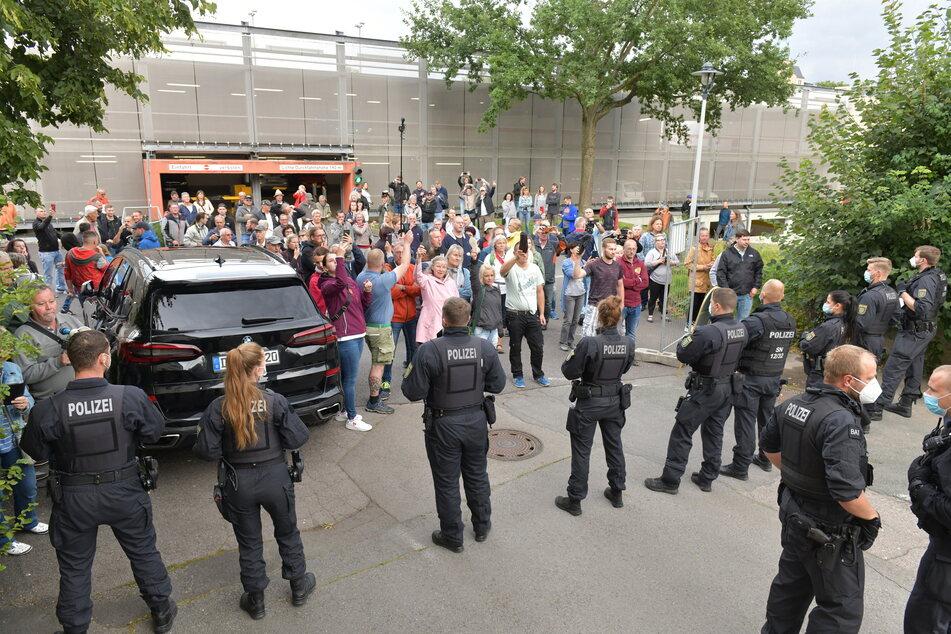 Zu heftigen Protesten kam es vor zwei Wochen beim Besuch des Ministerpräsidenten in Freiberg.