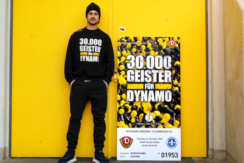 Yannick Stark (30) ist der passende Mann für diese Aktion. Der gebürtige Darmstädter wechselte im Sommer von den Lilien zu Dynamo.