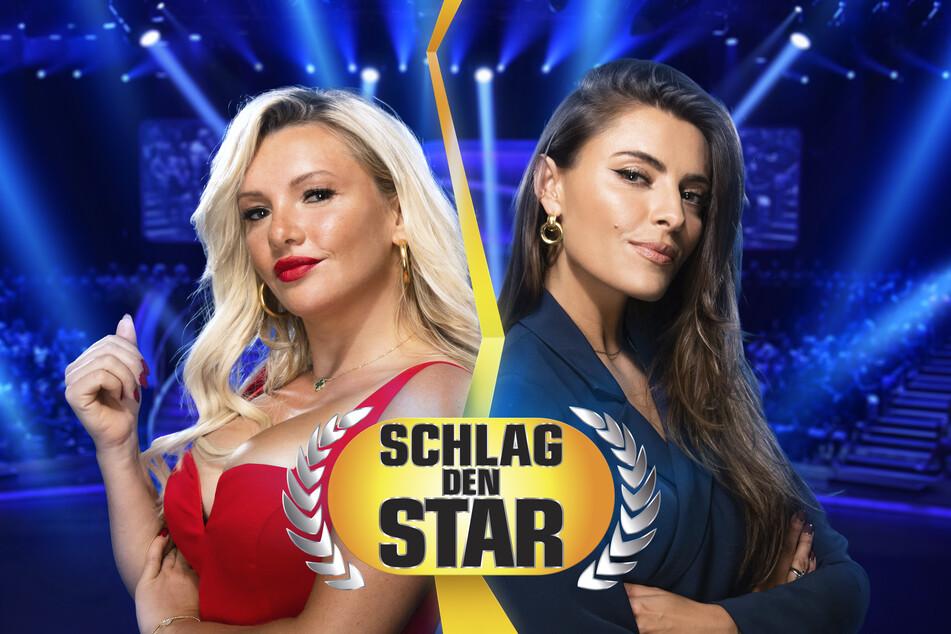 """Sophia Thomalla (31, r.) hat sich bei """"Schlag den Star"""" erwartungsgemäß gegen Evelyn Burdecki (32) durchgesetzt."""