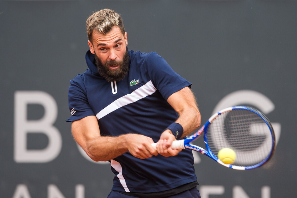 Tennis ATP-Tour - German Open, Einzel, Herren, 1. Runde im Stadion am Rothenbaum. Ruud (Norwegen) - Paire (Frankreich). Benoit Paire in Aktion.